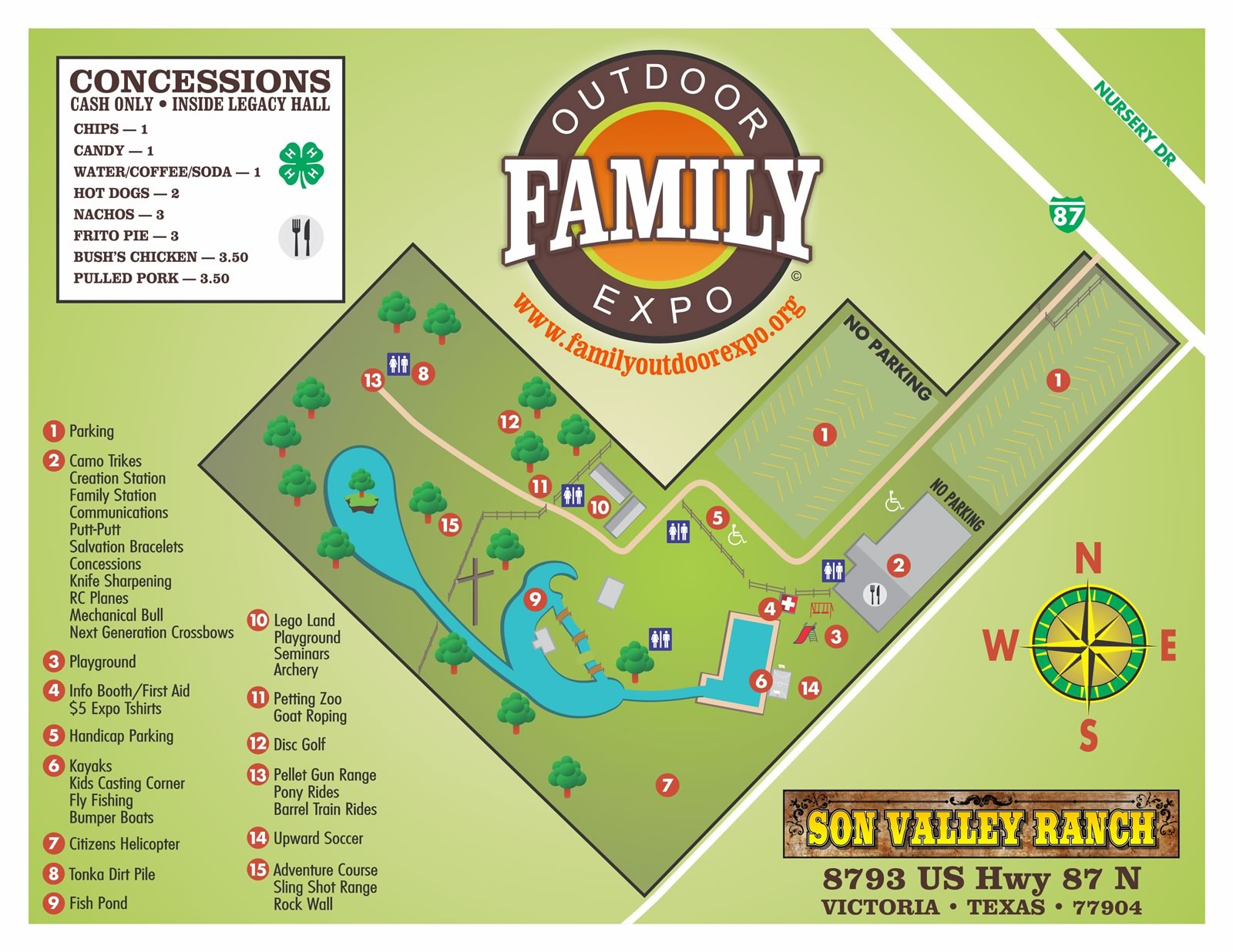 event map of Family Outdoor Expo