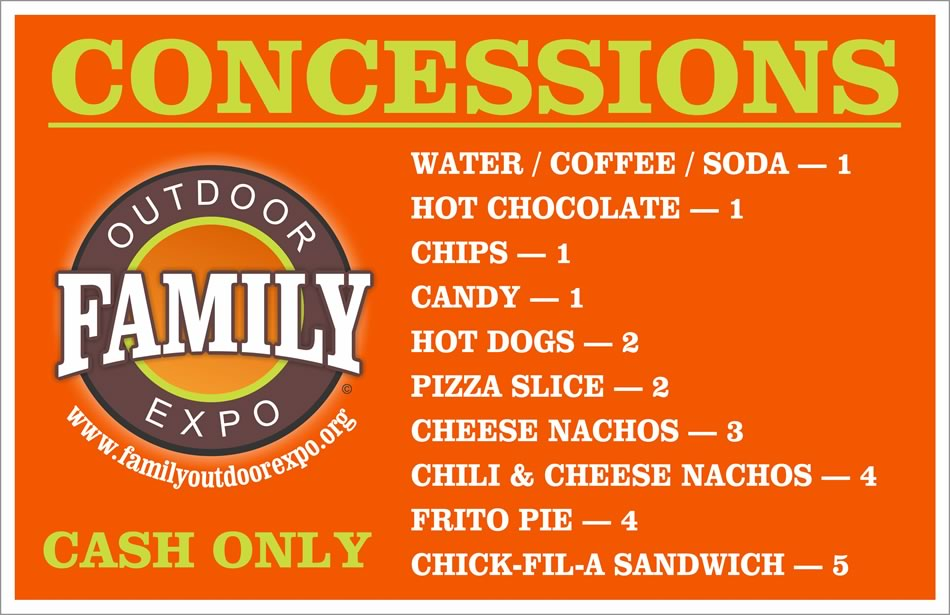 Concessions at Family Outdoor Expo 2019