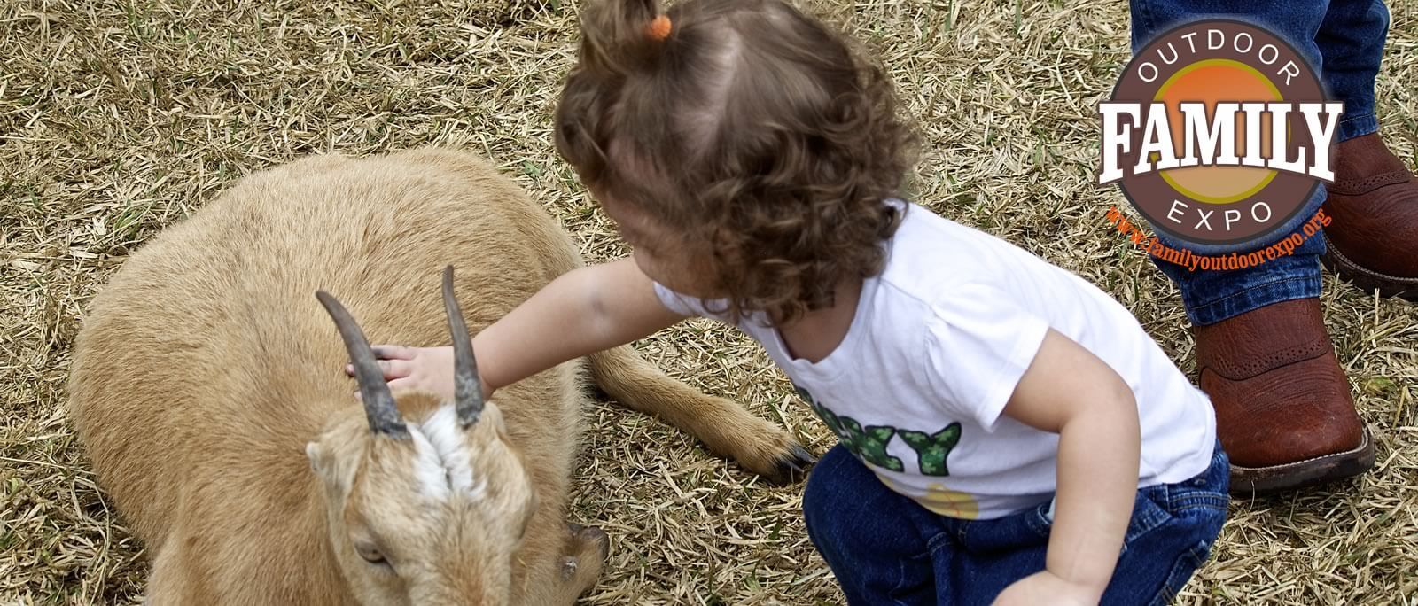 Petting at the Family Outdoor Expo