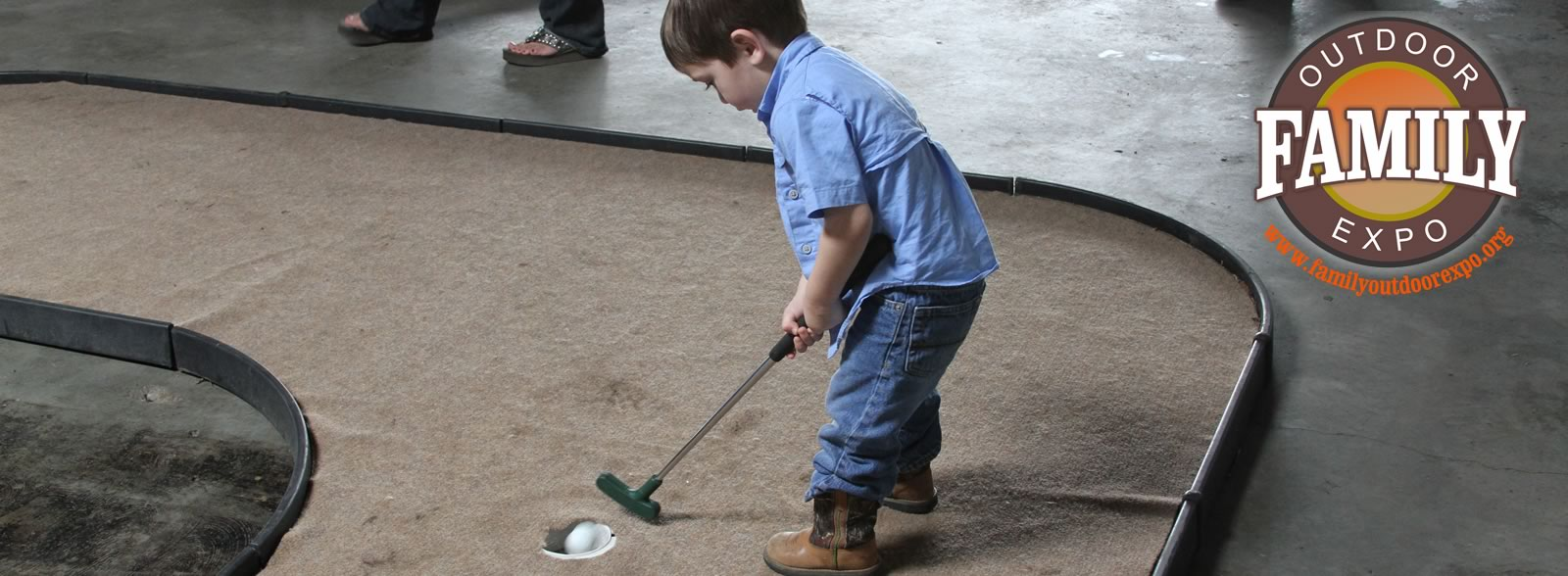 Putt Putt Golf at the Family Outdoor Expo