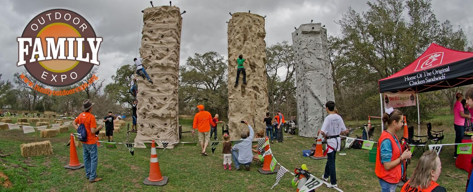 Rock Climbing at the Family Outdoor Expo